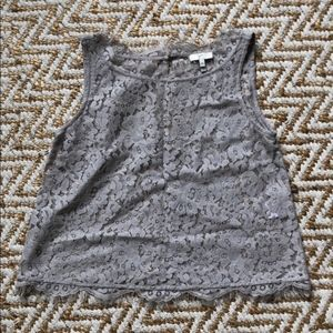 Joie Sleeveless Lace Top